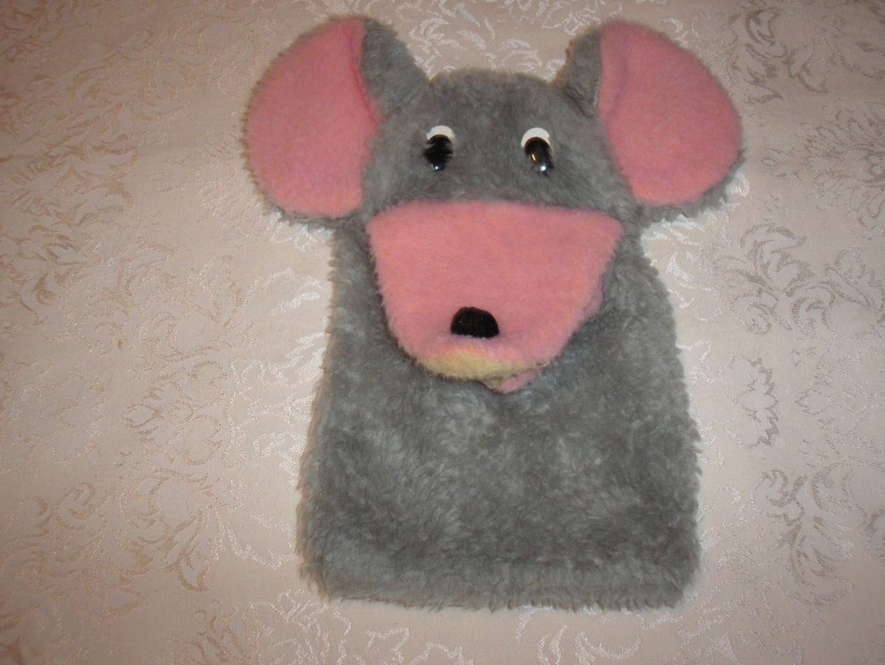 Mouse Hand Puppet  11.5 inches long, good, used, clean