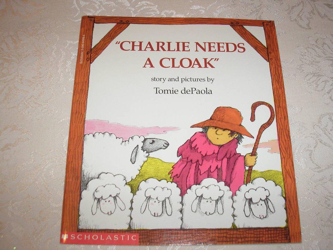 Charlie Needs A Cloak Tomie dePaola like new sc