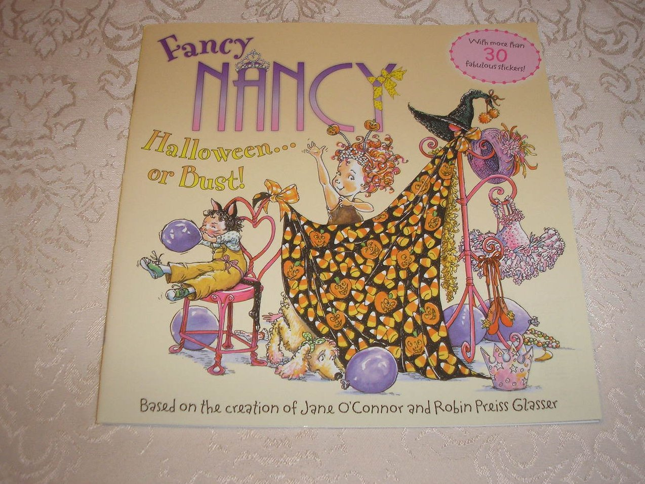 Fancy Nancy Halloween or Bust! with 30+ stickers brand new sc