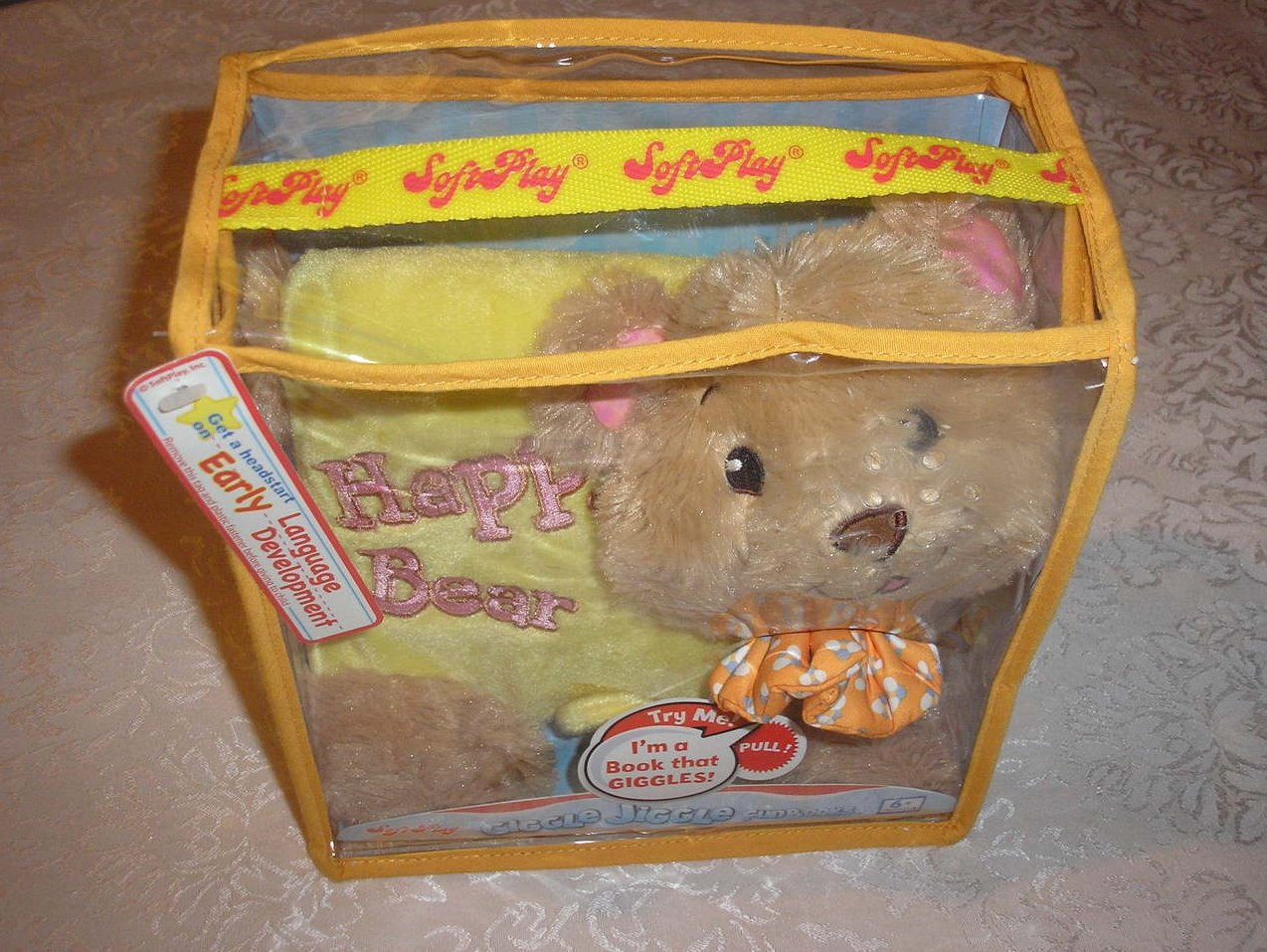 Happy Bear SoftPlay Plush Interactive Book for Baby brand new in case