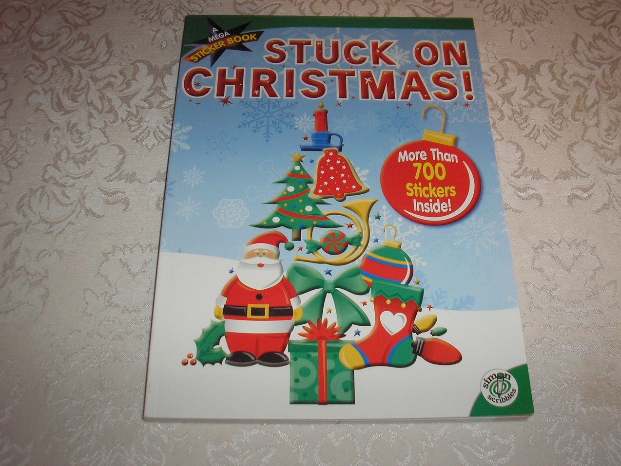 Stuck On Christmas Mega Sticker Activity Book with 700+ stickers 84 pages new