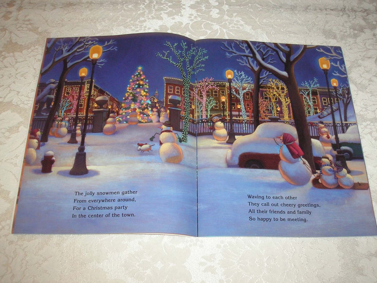 Snowmen At Christmas.Snowmen At Christmas Caralyn Buehner Very Good Sc