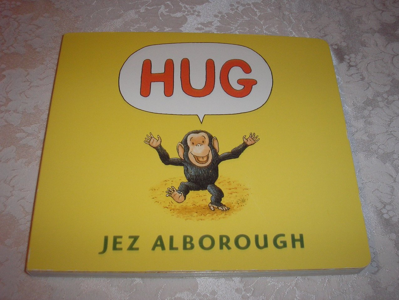 HUG Jez Alborough 9.25 x 10.5 inches lap size very good board book