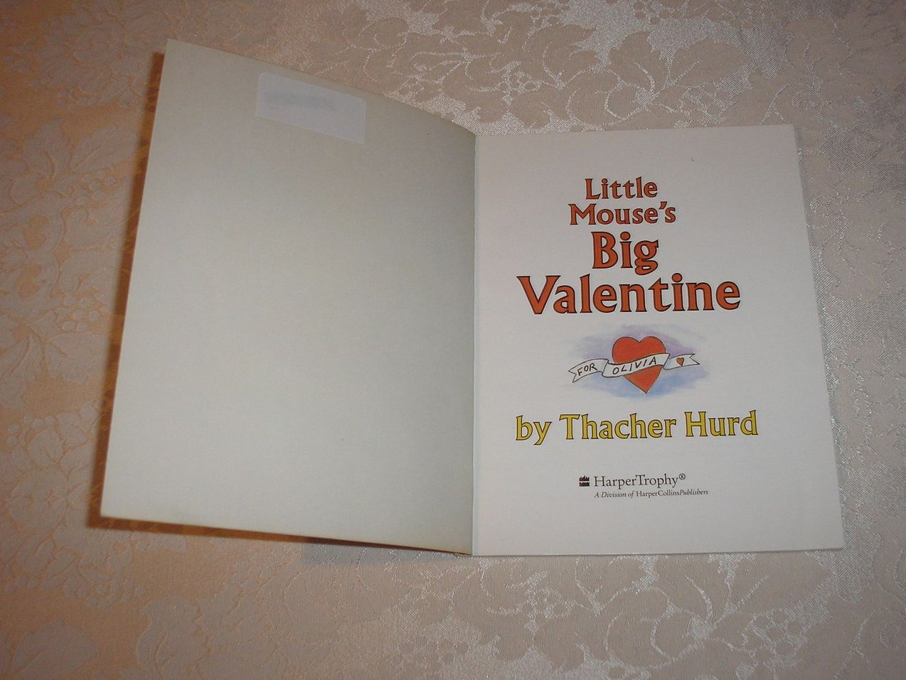 Image 1 of Little Mouse's Big Valentine Thacher Hurd good sc