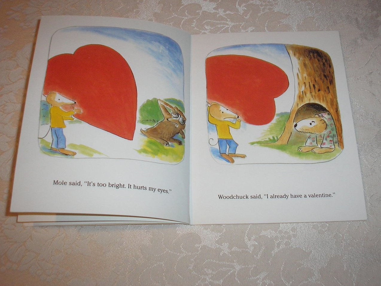 Image 4 of Little Mouse's Big Valentine Thacher Hurd good sc