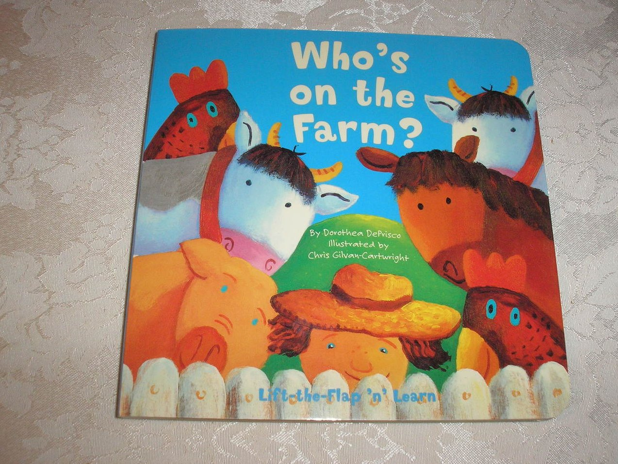 Who's on the Farm? Dorothea DePrisco brand new lift the flap board book