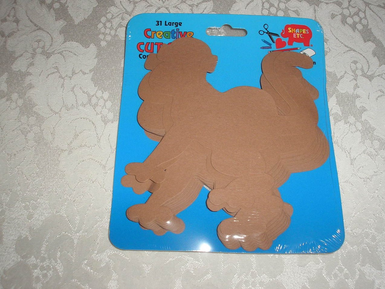 31 Large Brown Monkey Die Cuts from Shapes, Etc. new and sealed