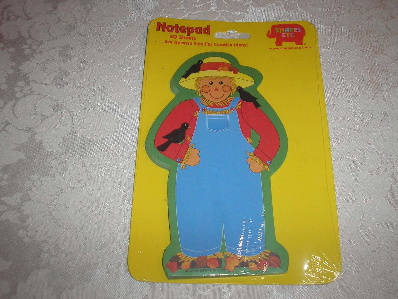 Shapes Etc Scarecrow Shaped Large Notepad 50 Sheets New and Sealed