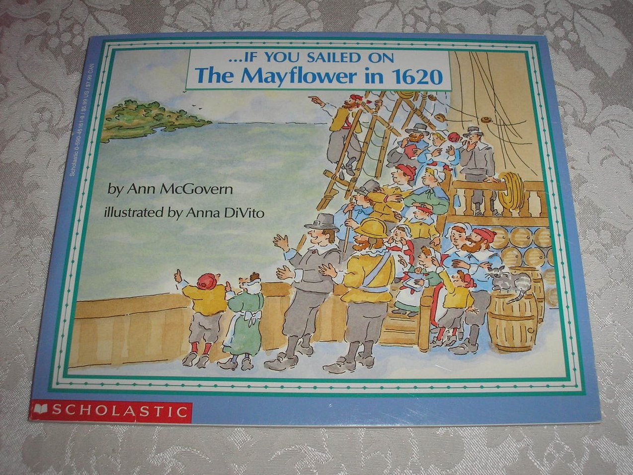If You Sailed On The Mayflower in 1620 Ann McGovern very good sc