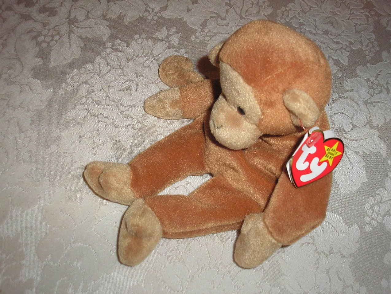 Ty Original Beanie Baby Bongo Monkey August 17, 1995