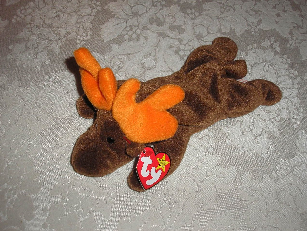 Ty Original Beanie Baby Chocolate Moose April 27, 1993 First Generation