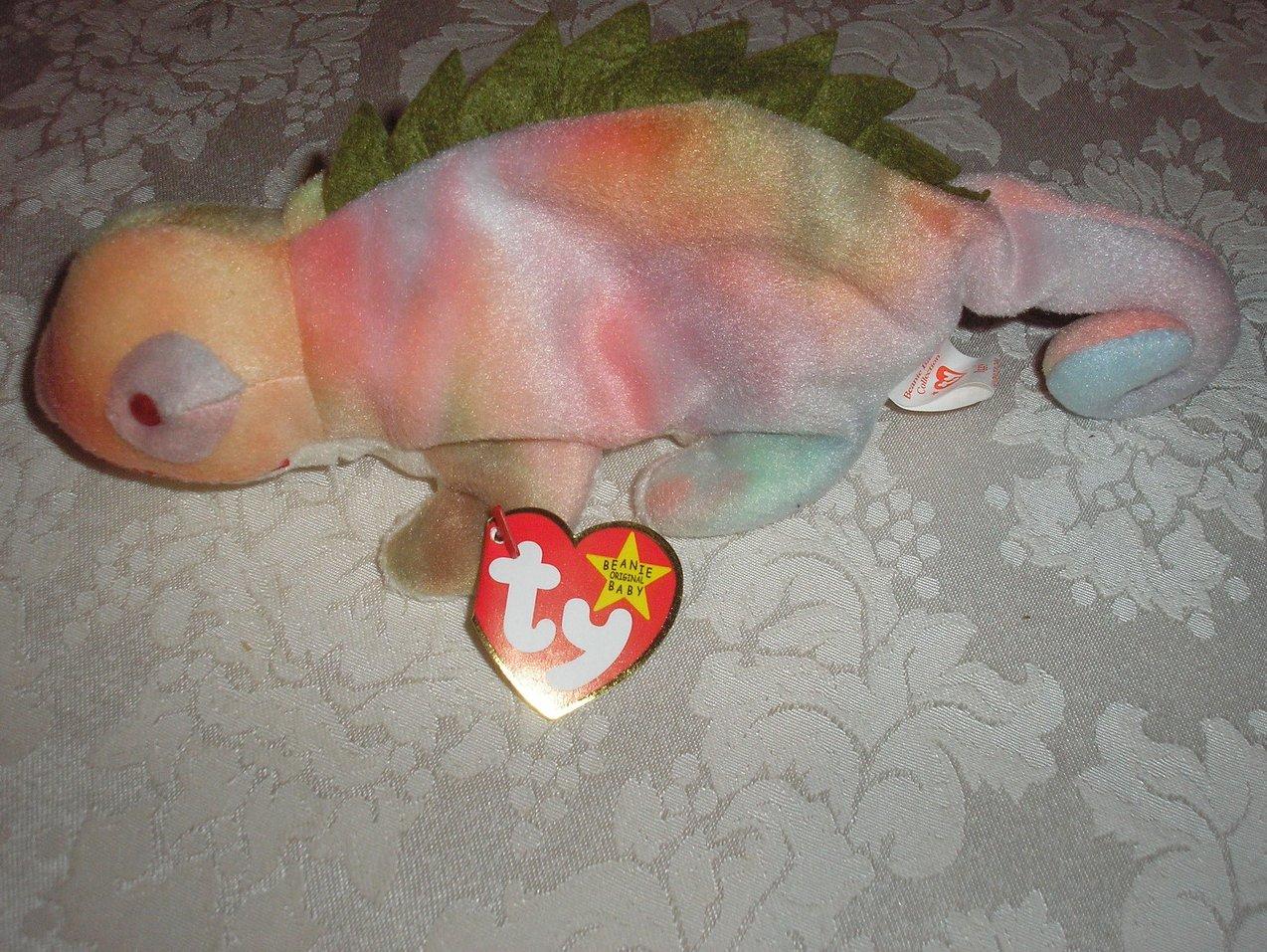 Ty Original Beanie Baby Iggy Iguana Aug 12, 1997