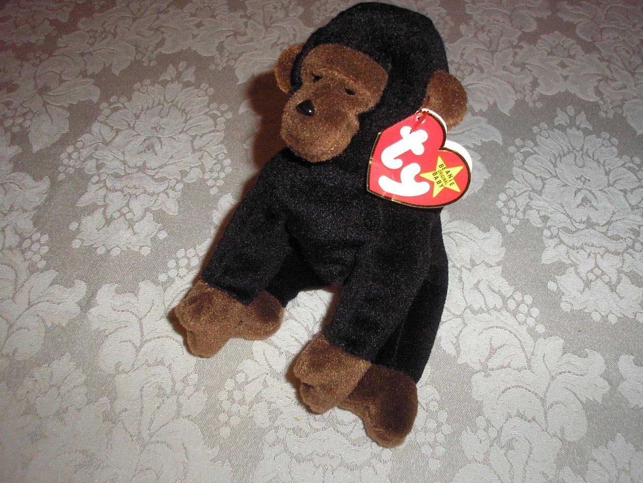 Ty Original Beanie Baby Congo Gorilla November 9, 1996