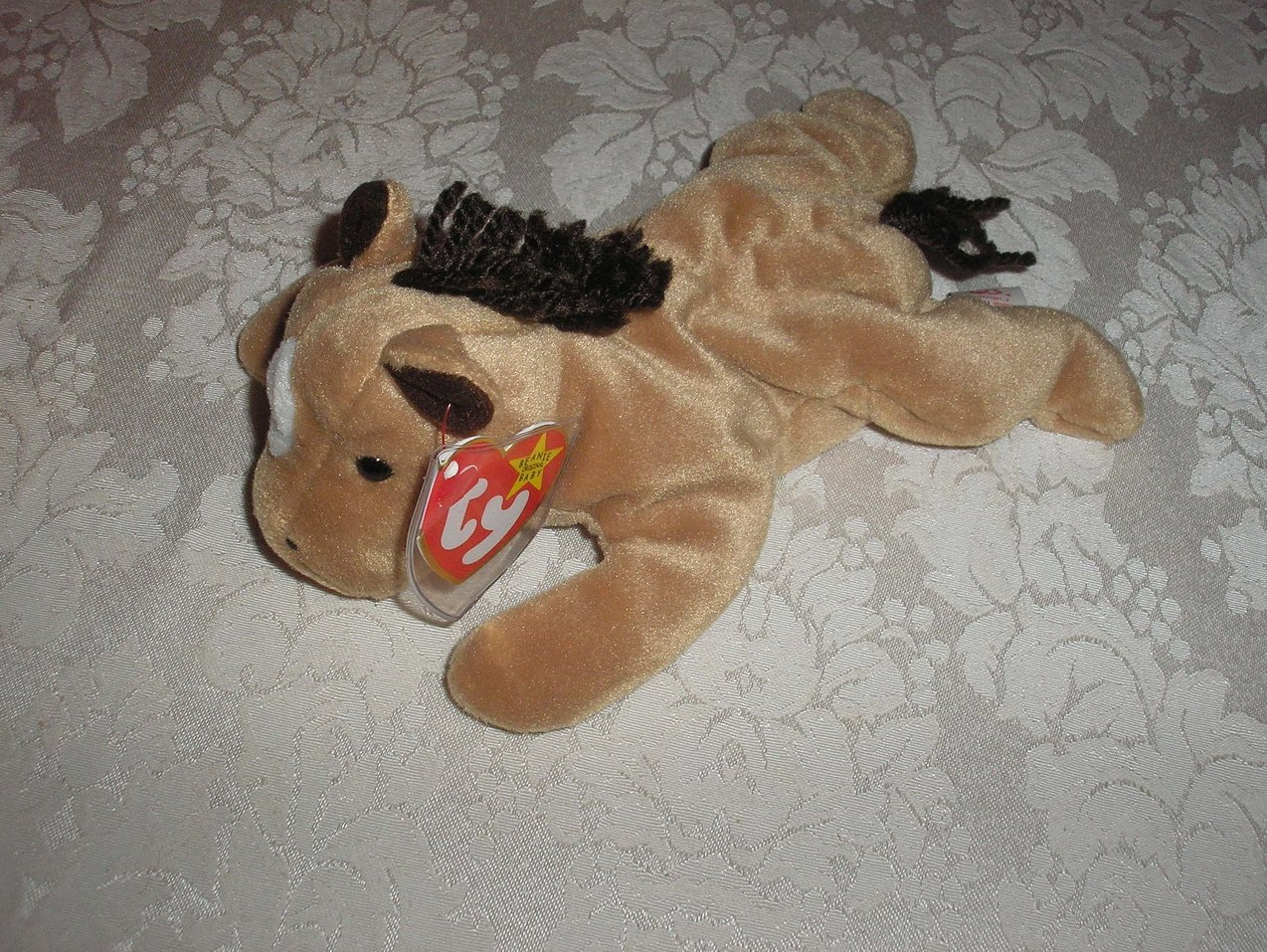 Ty Original Beanie Baby Derby Horse with white spot September 16, 1995