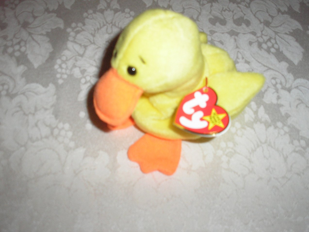 Ty Original Beanie Baby Quackers Duck April 19, 1994