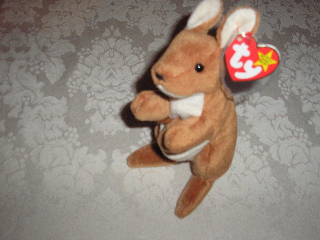 Ty Original Beanie Baby Pouch Kangaroo November 6, 1996