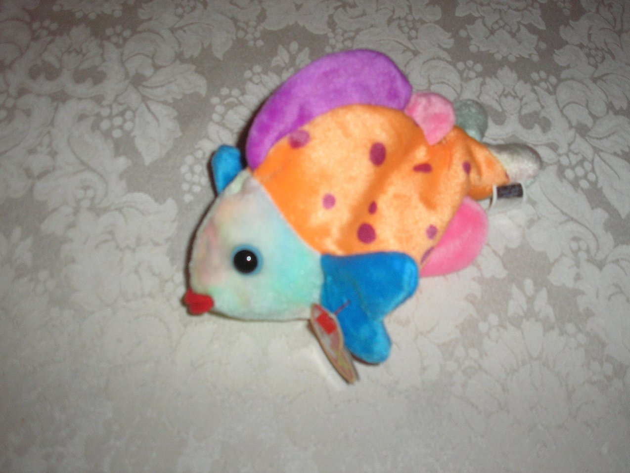 Ty Original Beanie Baby Lips Fish March 15, 1999