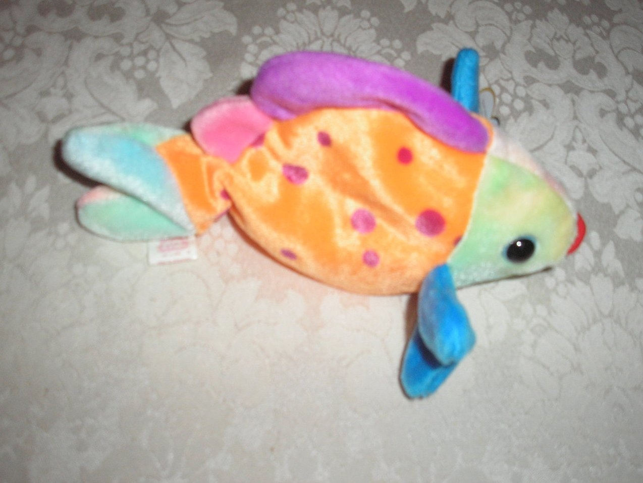 Ty original beanie baby lips fish march 15 1999 for Fish beanie baby