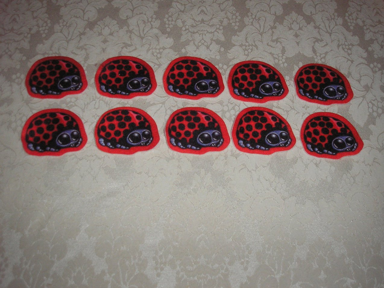Ten Ladybugs Felt Pieces Felt Board Set like new