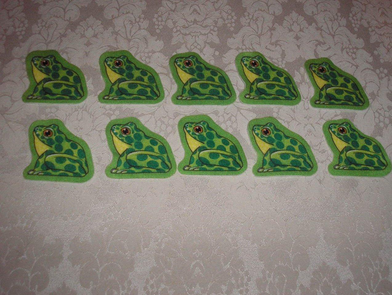 Ten Frogs Felt Pieces Felt Board Set like new
