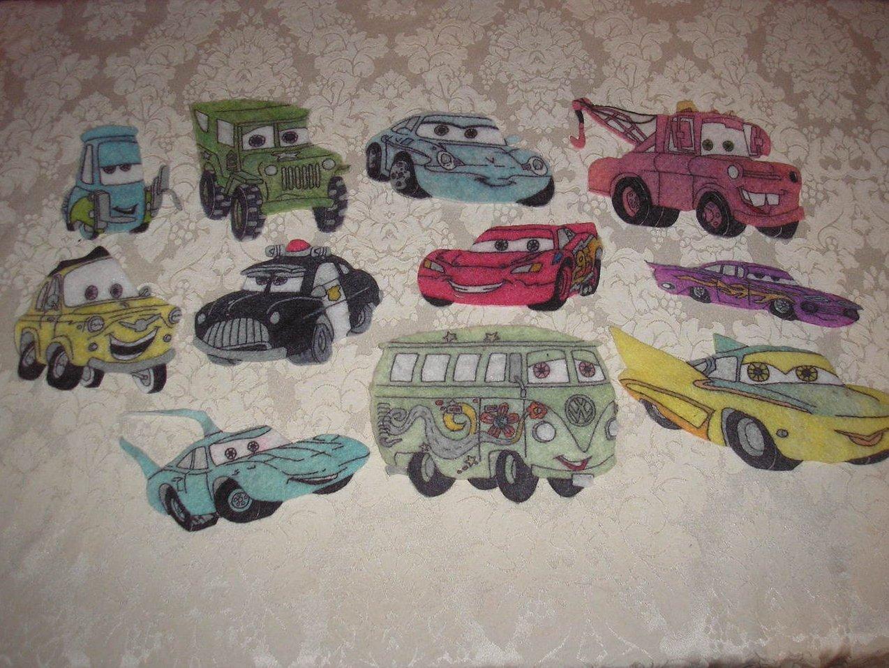 Disney Pixar Cars Characters rare felt board set like new