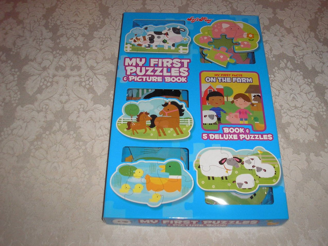 SoftPlay On The Farm My First Puzzles and Picture Book brand new boxed gift set