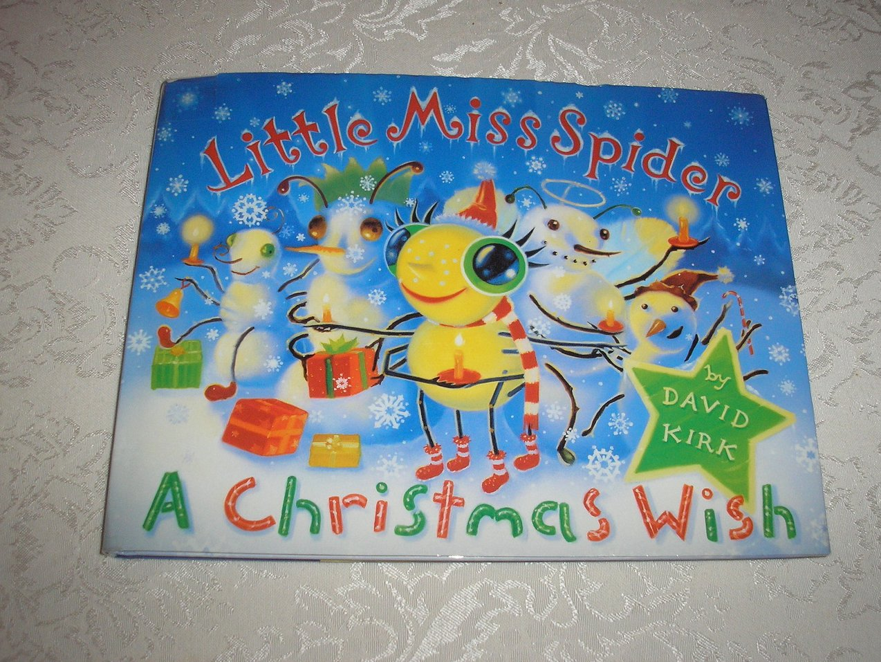 Little Miss Spider A Christmas Wish David Kirk used First Edition hc with dj