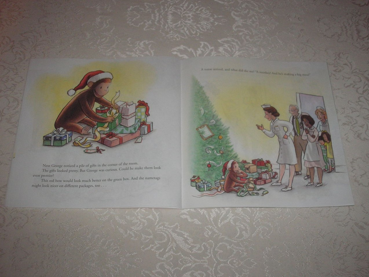 Image 2 of Merry Christmas, Curious George Margret and H. A. Rey Brand New Softcover