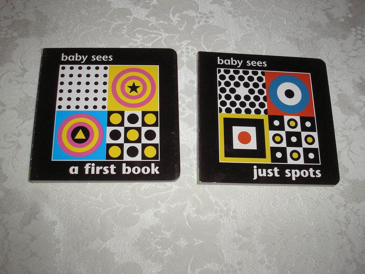 Baby Sees A First Book and Baby Sees Just Spots brand new board book set