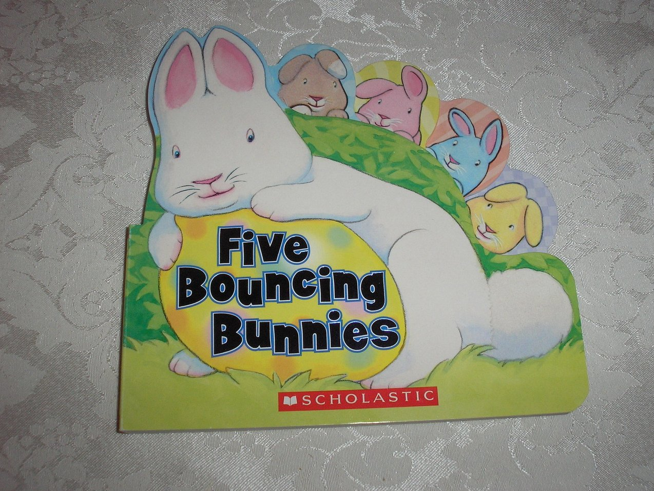 Five Bouncing Bunnies brand new shaped touch and feel board book