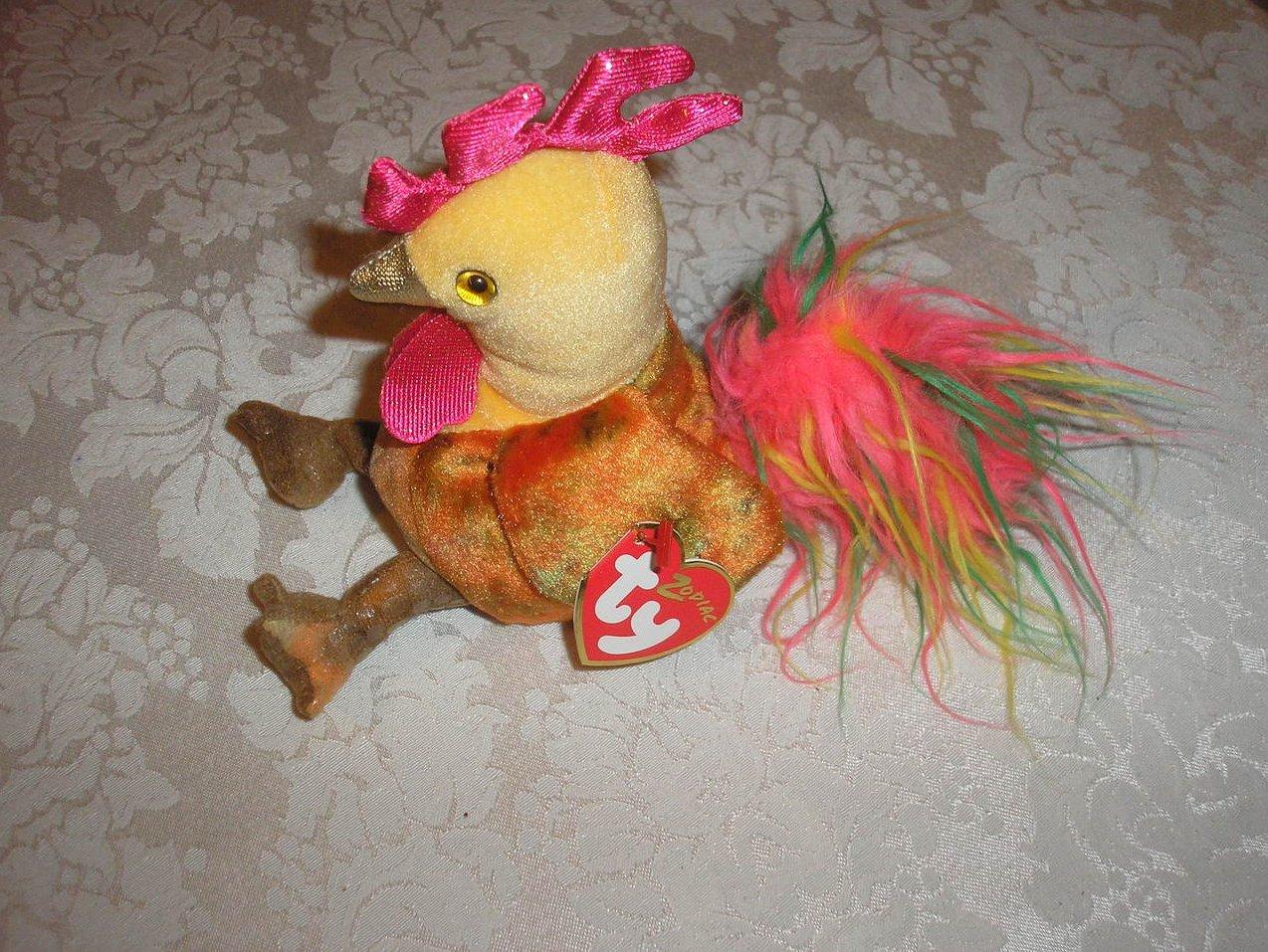 Ty Beanie Baby Zodiac Rooster 2005