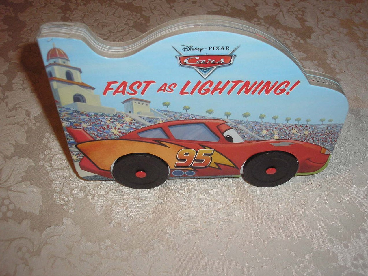 Disney Pixar Cars Fast As Lightning! brand new board book with wheels
