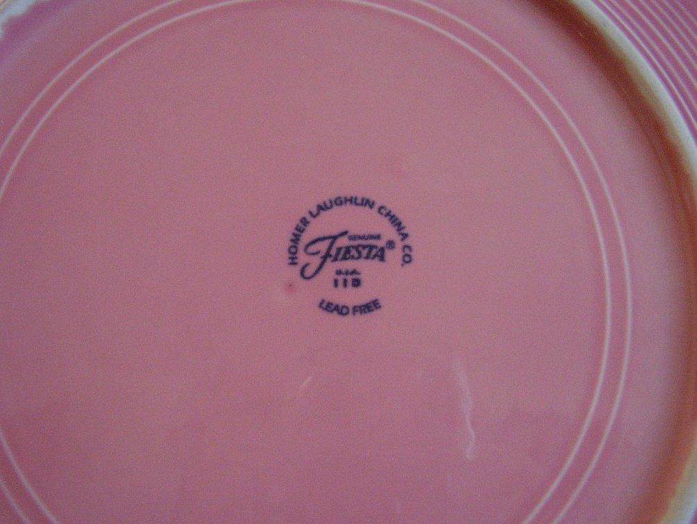 '.Fiesta Rose Chop Plate.'