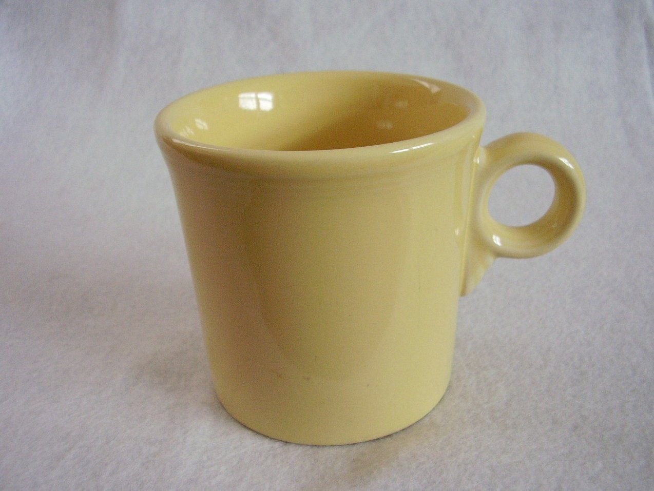 Fiesta 80s Light Yellow T & J Mug Fiestaware Contemporary
