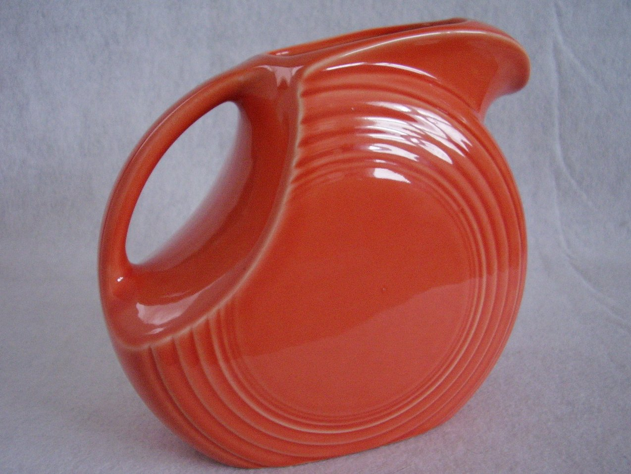 Fiesta Persimmon Large Disk Pitcher Fiestaware Contemporary