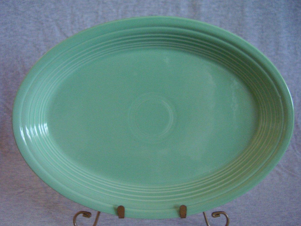 Fiesta Seamist Oval Platter Fiestaware Contemporary