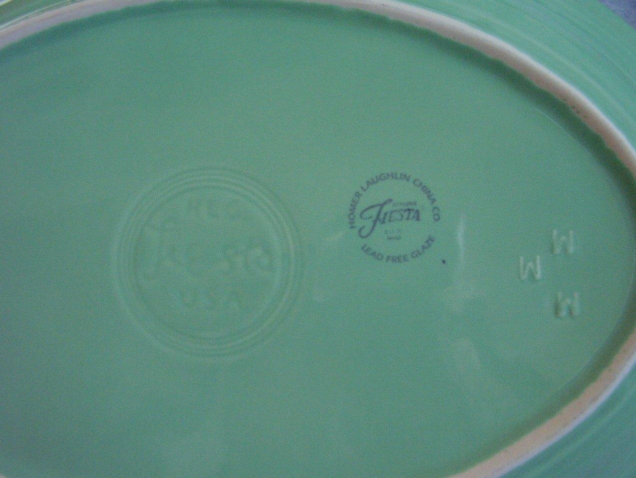 '.Fiesta Seamist Oval Platter .'