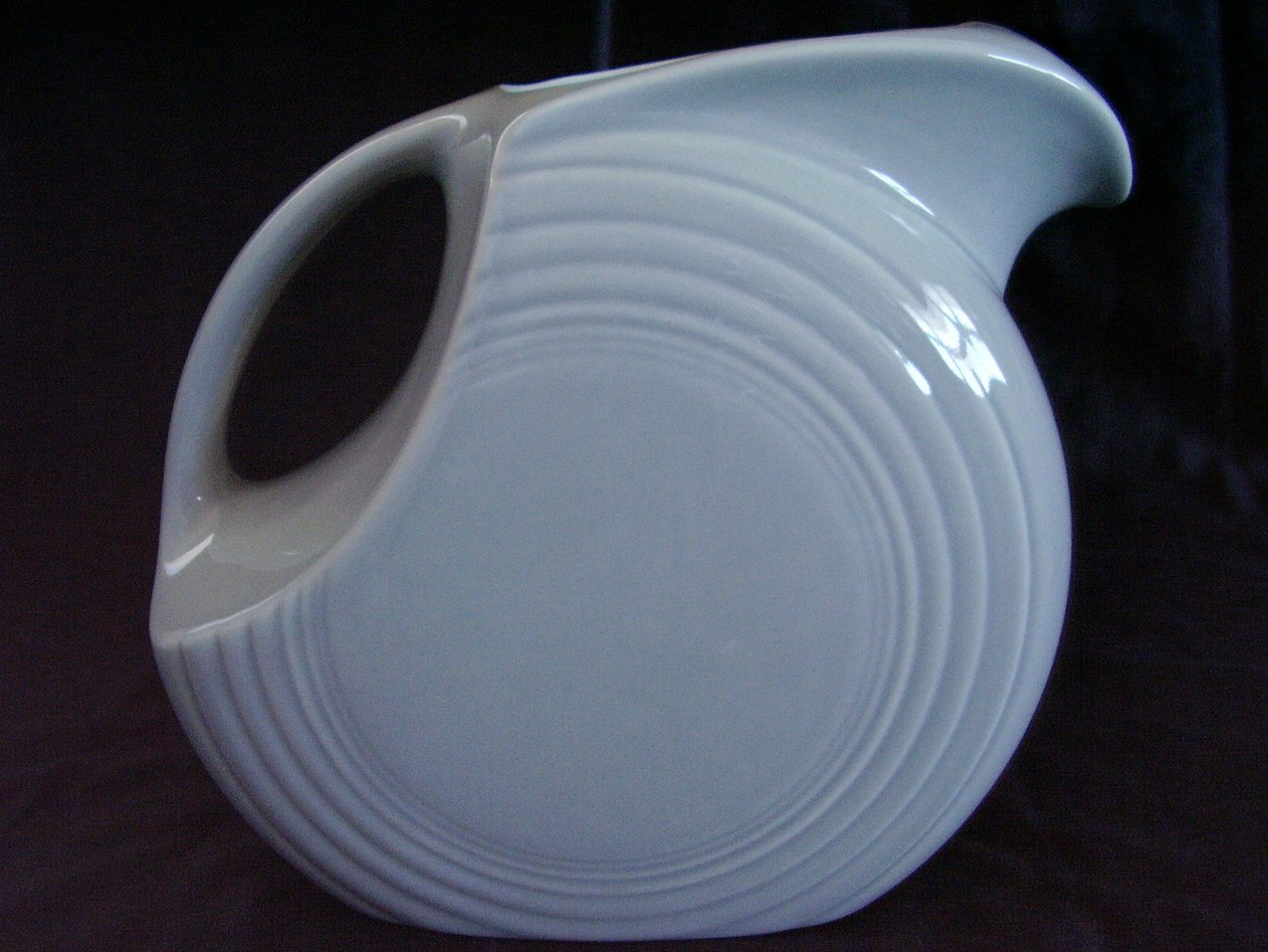 Fiesta Pearl Gray Grey Large Disk Pitcher Contemporary