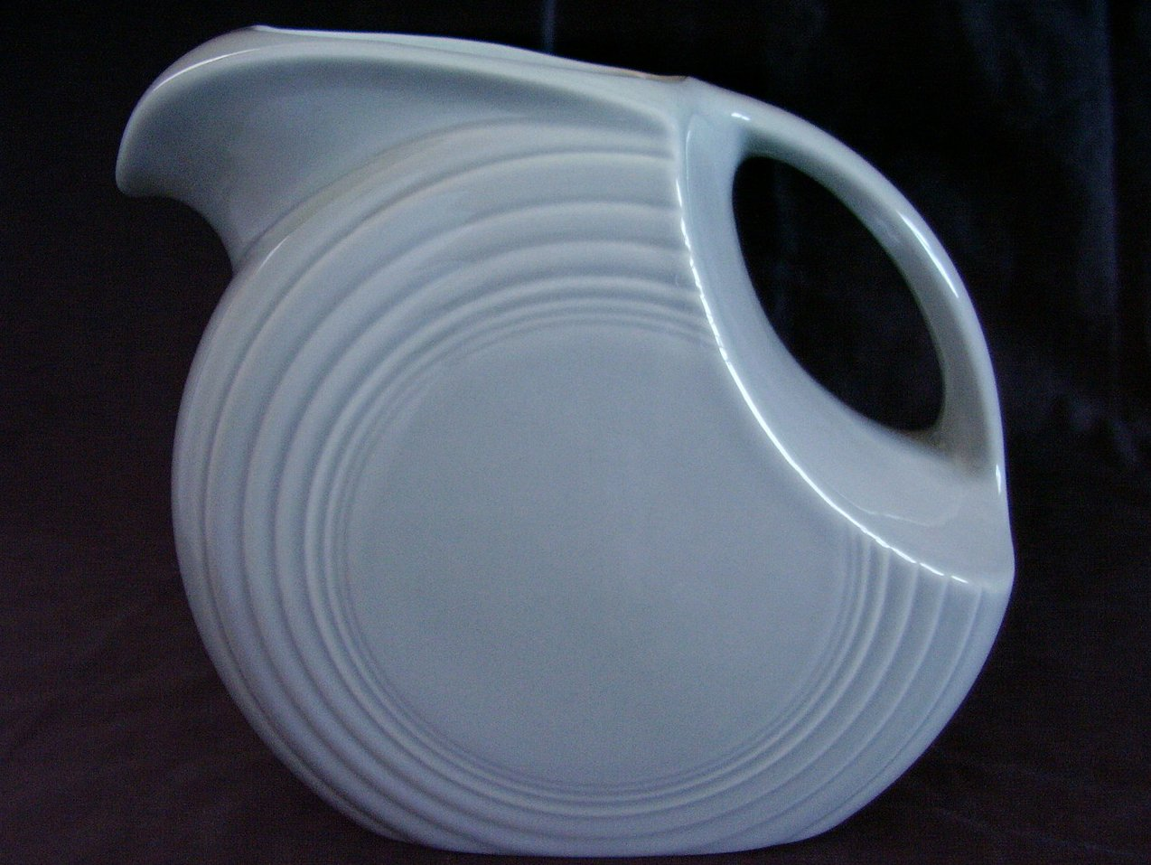 '.Fiesta Pearl Gray Disk Pitcher.'