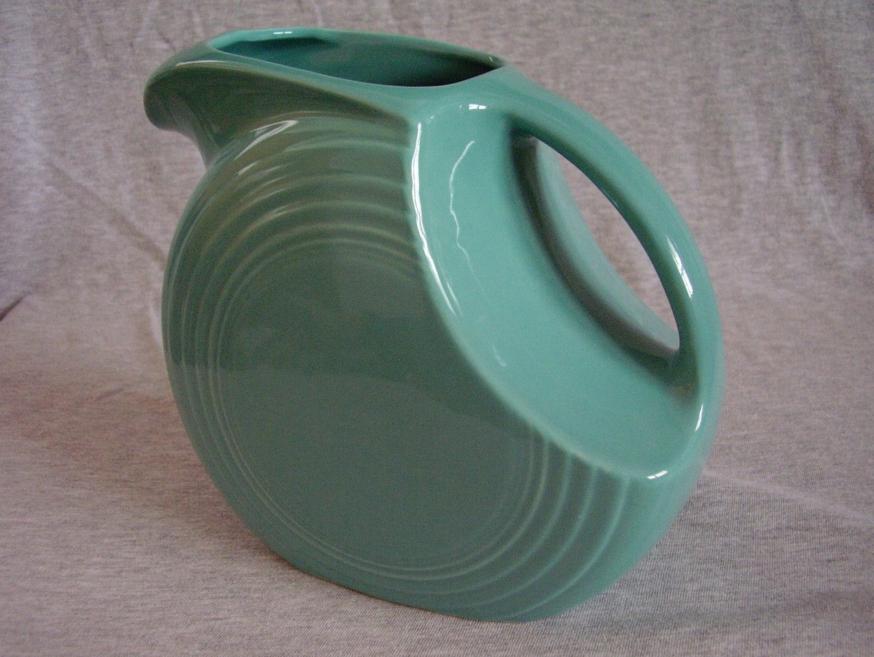 Fiesta Turquoise Disk Pitcher