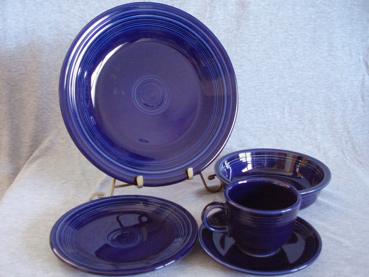 Fiestaware Cobalt 5pc Placesetting Contemporary