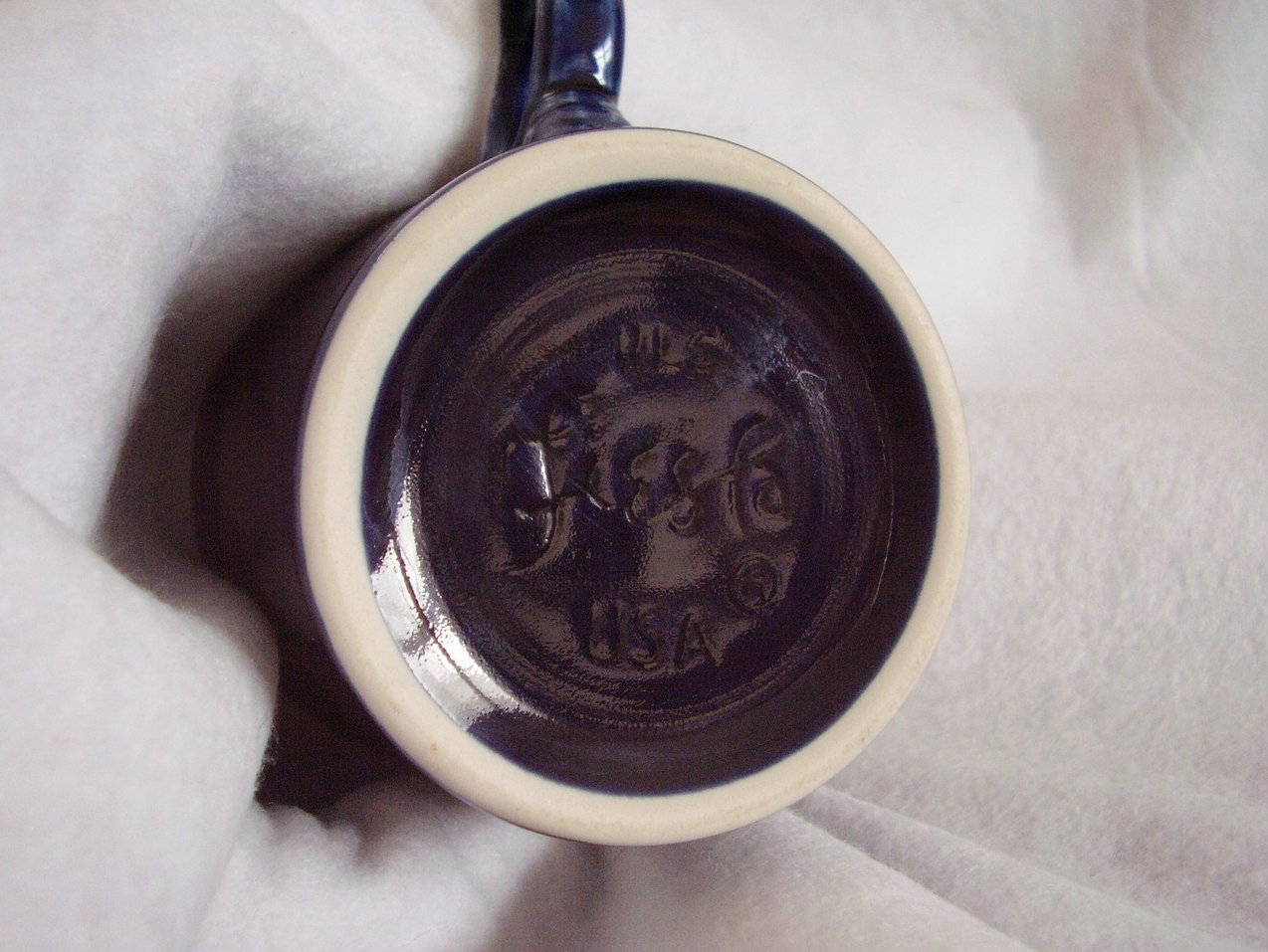 '.Fiestaware Cobalt T & J Mug .'