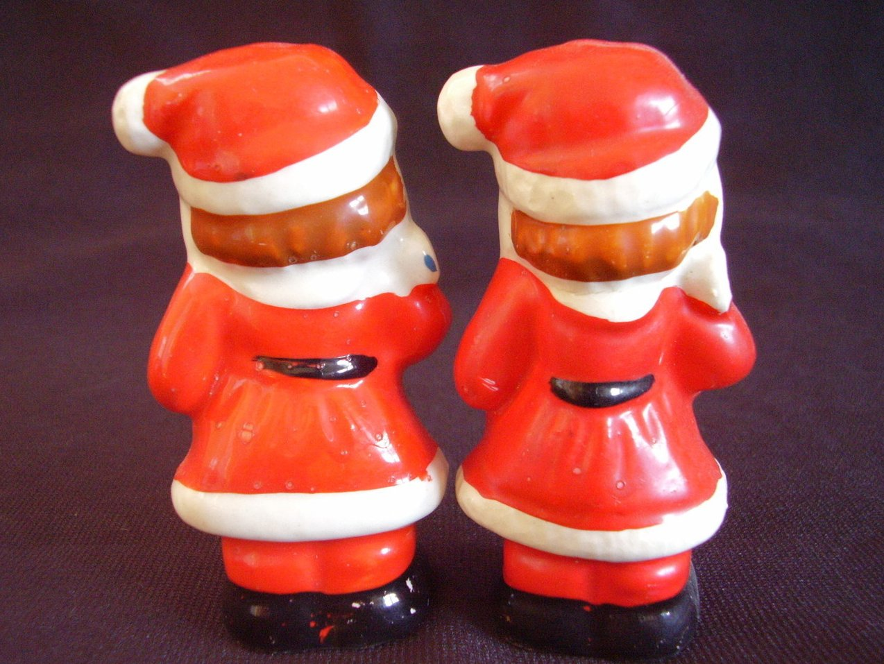 '.Vintage Mini Santa Salt Pepper.'