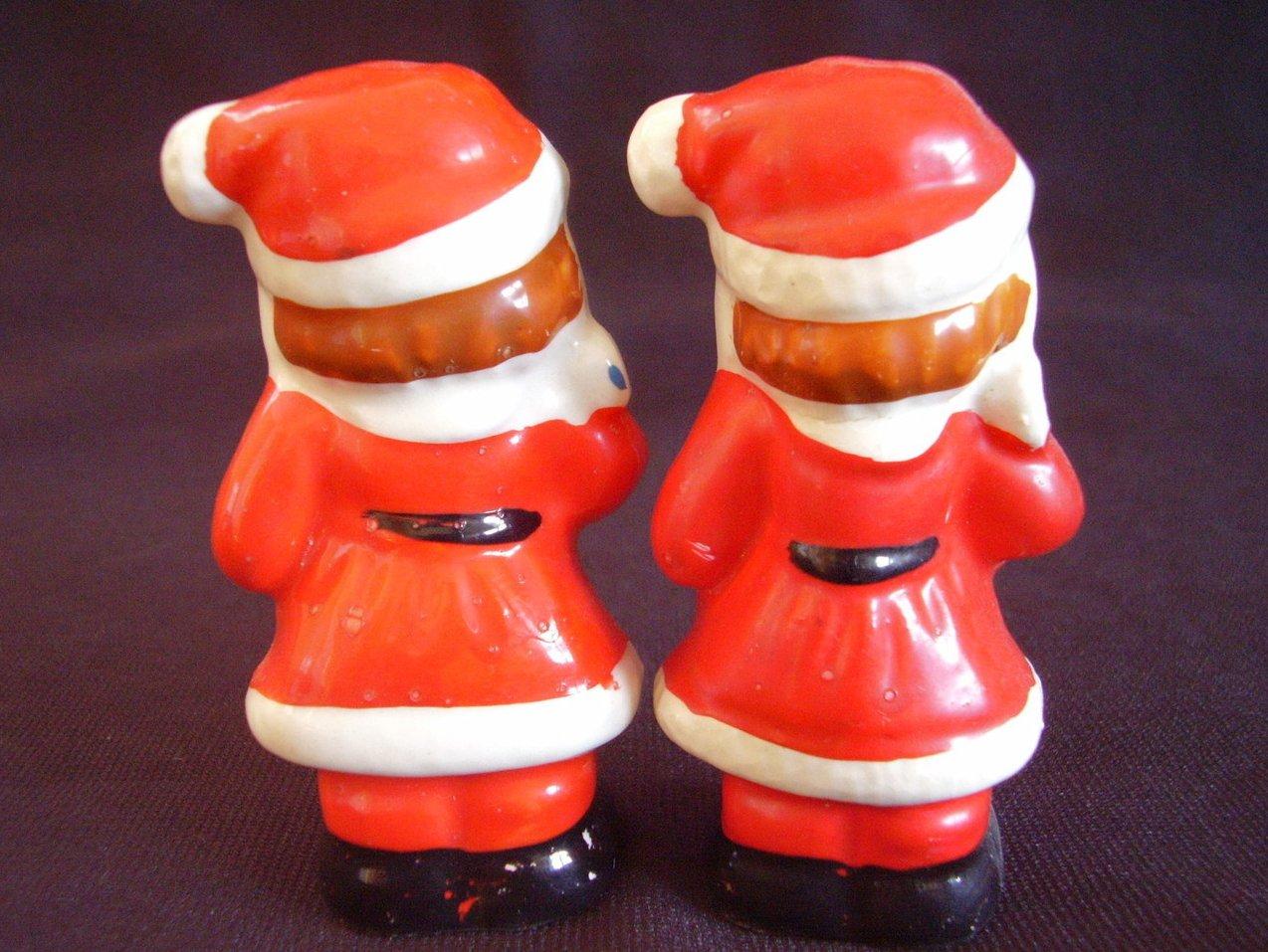 '.Vintage Mini Santa Salt Pepper.'