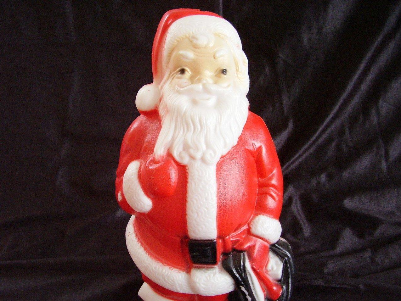 Vintage Plastic Lighted Santa Blow Mold 1968 Empire