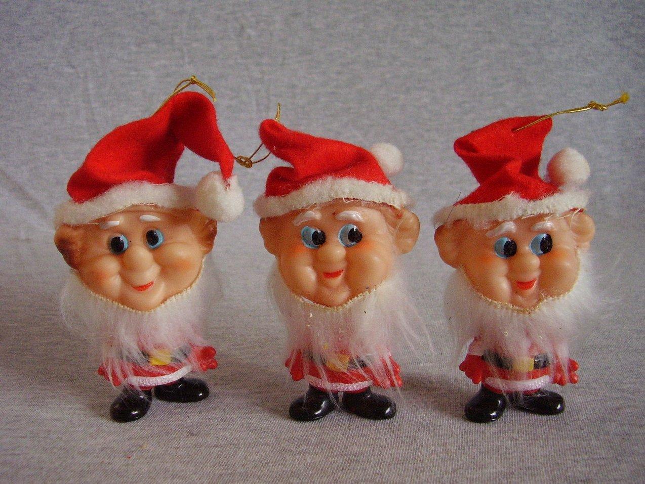 '.Vintage Soft Plastic Santa Orn.'