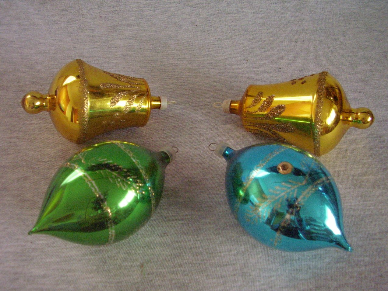 Stenciled Mica Glass Ornaments