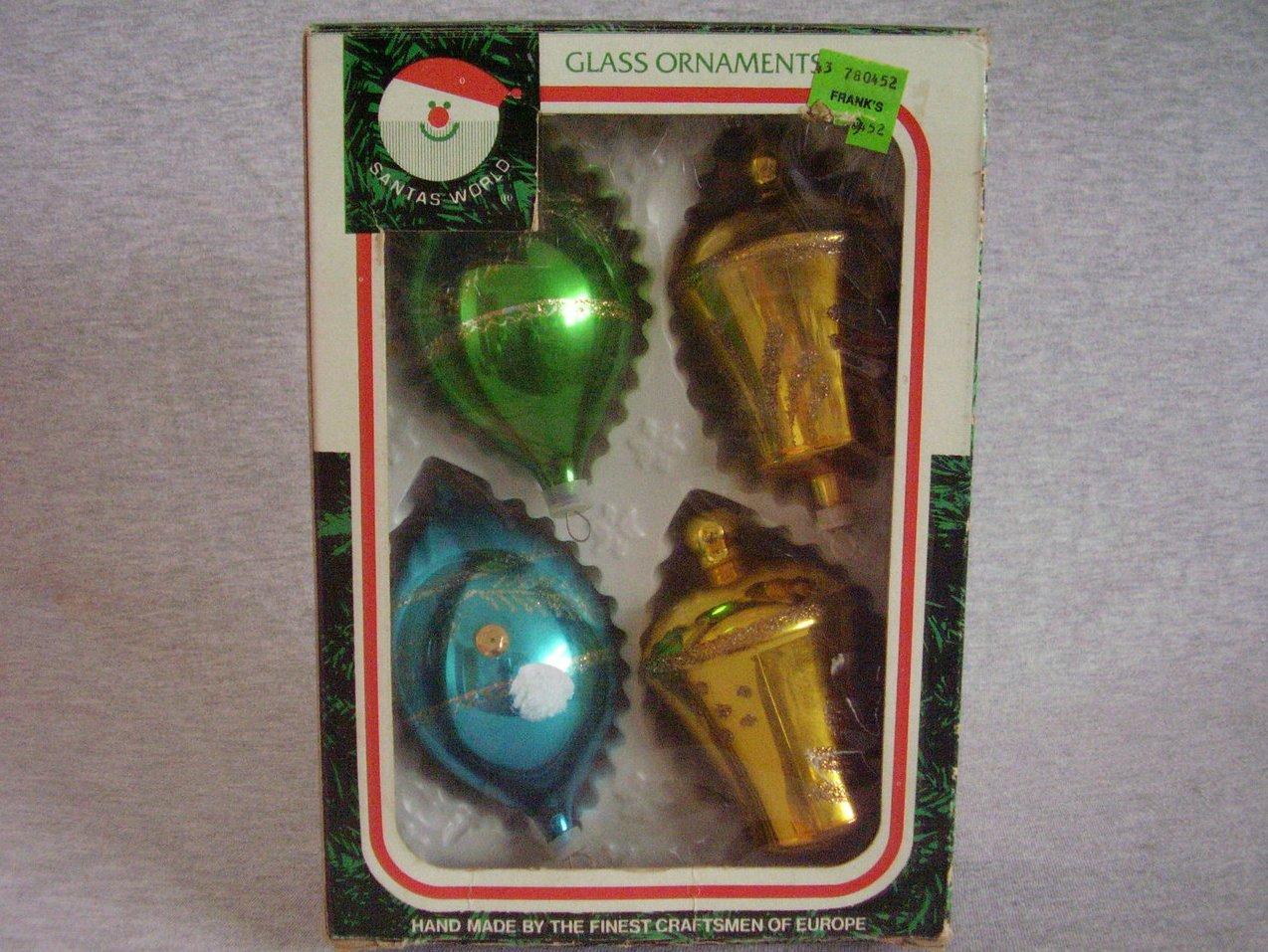 Stenciled Mica Glass Ornaments