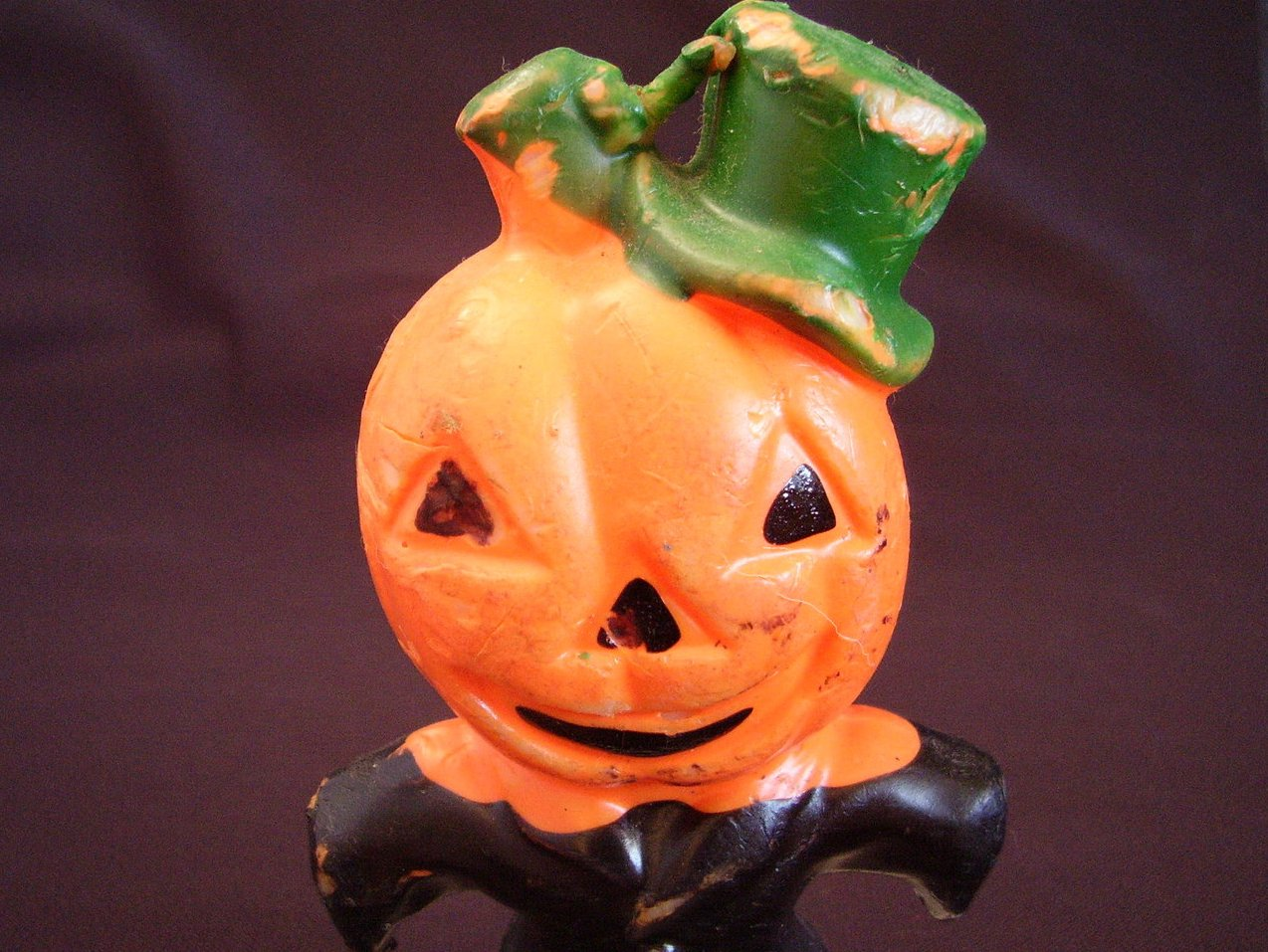 Gurley Jack O' Lantern Pumpkin Man Halloween Candle Vintage