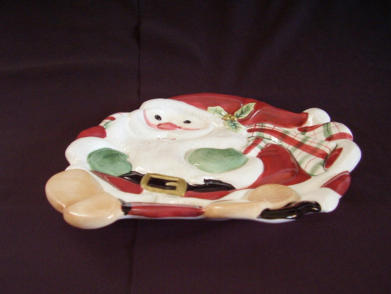 Fitz Floyd Santa Plate